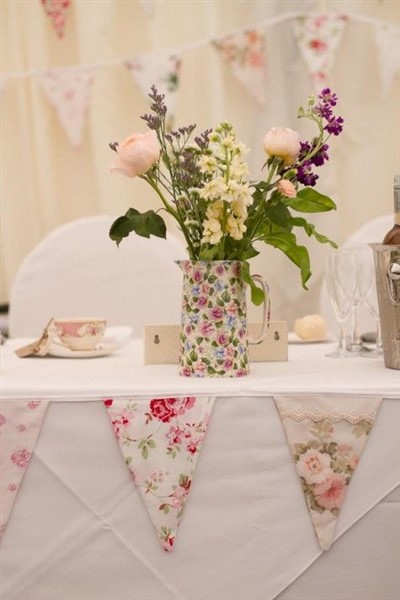 shabby chic floral arrangement