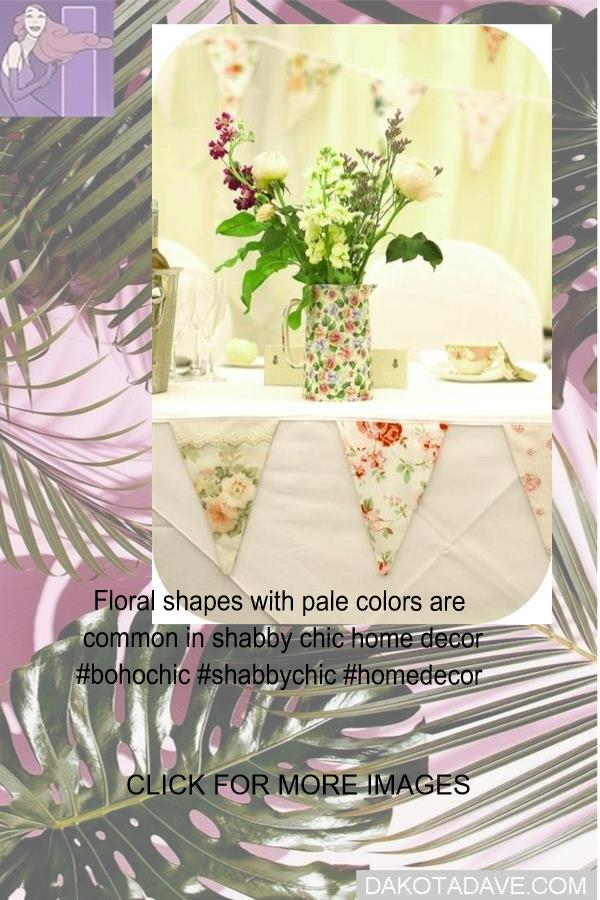 Floral shapes with pale colours are popular in shabby chic home decor #bohochic #shabbychic #homedecor