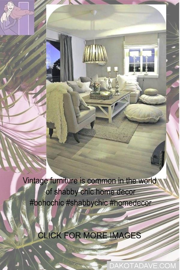 Vintage furniture is common in the world of shabby chic home decor #bohochic #shabbychic #homedecor