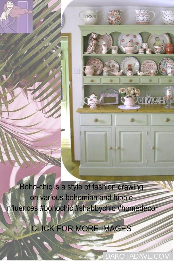 Boho-chic is a style of fashion drawing on various bohemian and hippie influences #bohochic #shabbychic #homedecor